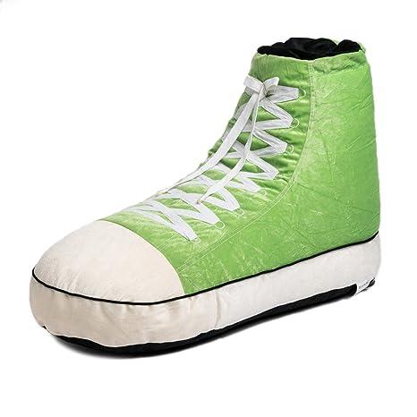 Tremendous Wow Works Adult Style Sneaker Bean Bag Chair Green 927934A Machost Co Dining Chair Design Ideas Machostcouk