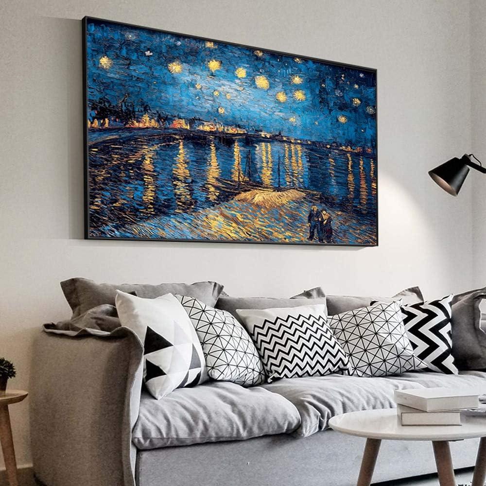 Geiqianjiumai Famoso Impresionista Noche Estrellada Lienzo ...