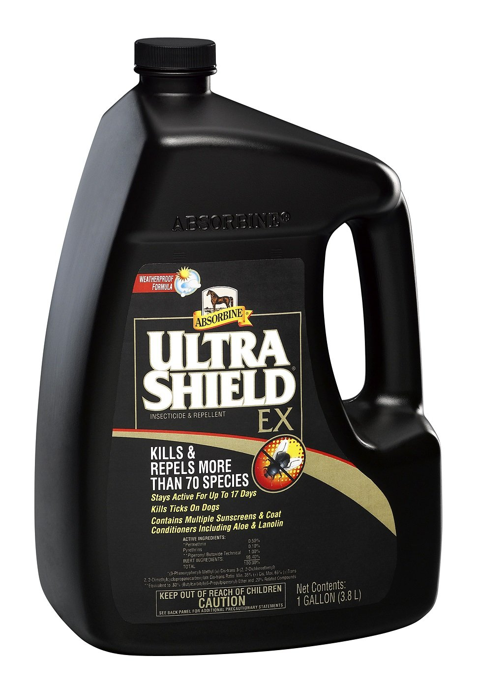 Absorbine 1 Gallon Ultra Shield EX Kills and Repels More Than 70 Species ! Weatherproof Formula by Absorbine