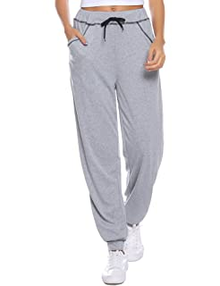 EUFANCE Mujeres Jogger Deportes Pantalones Casuales Acogedor ...