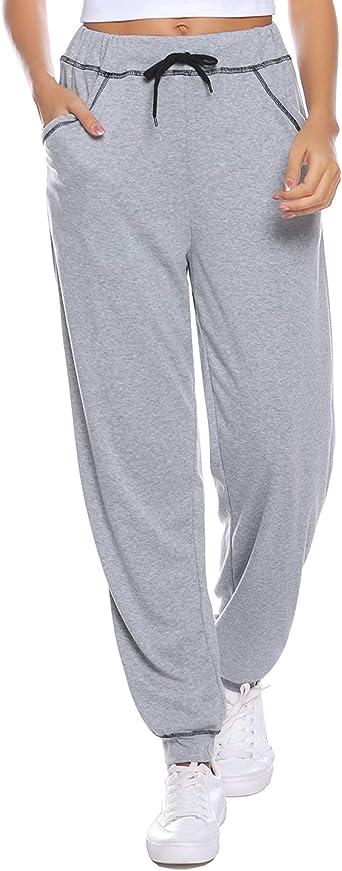 iClosam Pantalones Chandal Mujer Casuals Rayas AlgodóN De ...