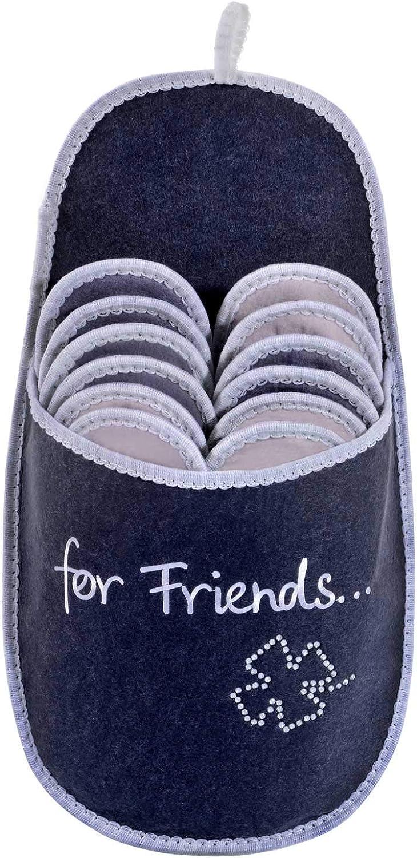ONVAYA Zapatillas de huéspedes antideslizantes   conjunto de 6   Zapatilla de fieltro   Para amigos felicidad hoja de trébol de brillo For Friends