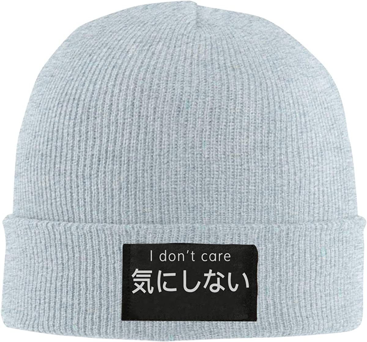 Men Women I Dont Care Skull Hat Beanie Cap Winter Knit Hat Cap