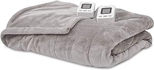 SensorPedic Heated Electric Blanket with SensorSafe, King, Soft Grey