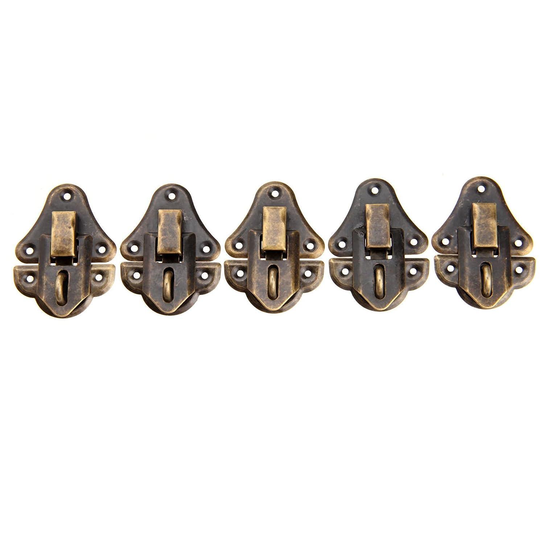 10Piezas 48*35mm Puerta de cabina de decoraci/ón retro Hasp PAD que puede cerrar el broche de madera caso caja de joyas