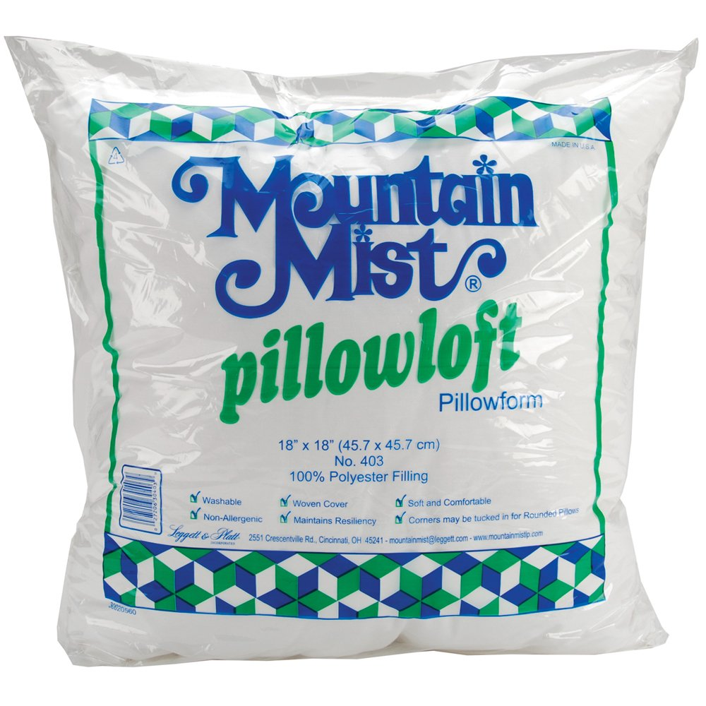 Mountain Mist Pillowloft Pillowforms, 18-inch-by-18-inch Notions - In Network 403MM