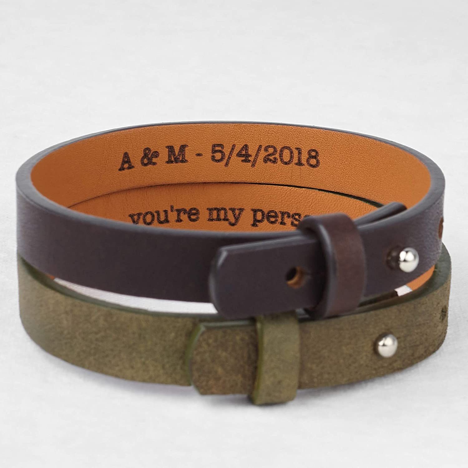 EXPRESS SHIPPING Mens Leather Bracelet Leather Personalized  Bracelet Personalized Jewelry Gift for Him Birthday Gift Anniversary gift