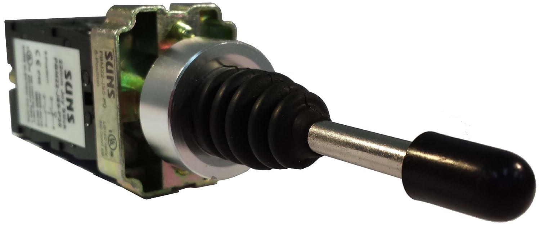 SUNS PBM22-JS5-P38 22mm Joystick 5 Position 4 Direction Metal Momentary 4NO