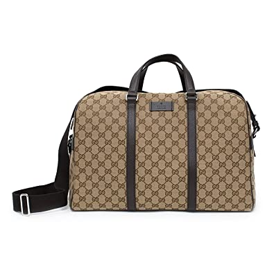 8c458d1b31 Amazon.com: Gucci Duffle Travel Militare GG Beige Ebony Tmoro Bag Handbag  Italy New: Shoes