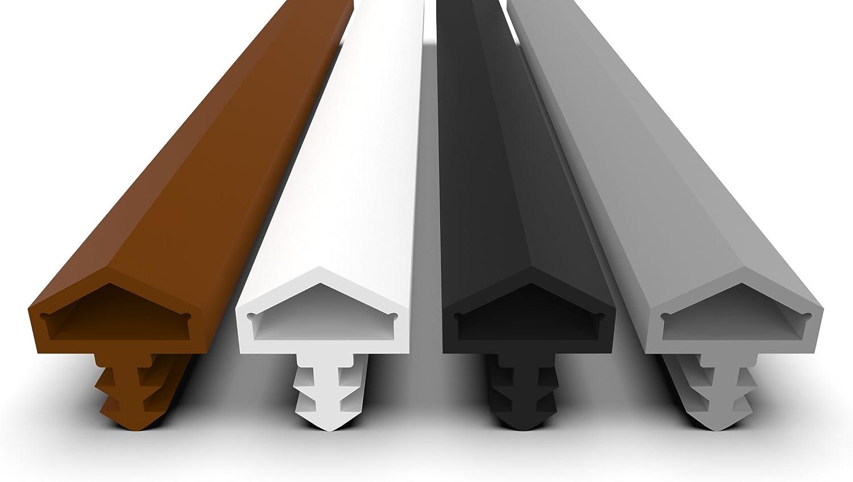 Antidehnungsfaden Haust/ürdichtung T/üranschlagdichtung T/ürdichtung 3mm Nutbreite // 7mm Nuttiefe // 12mm Falz T/ürdichtung schwarz 5m Schwarz 5m
