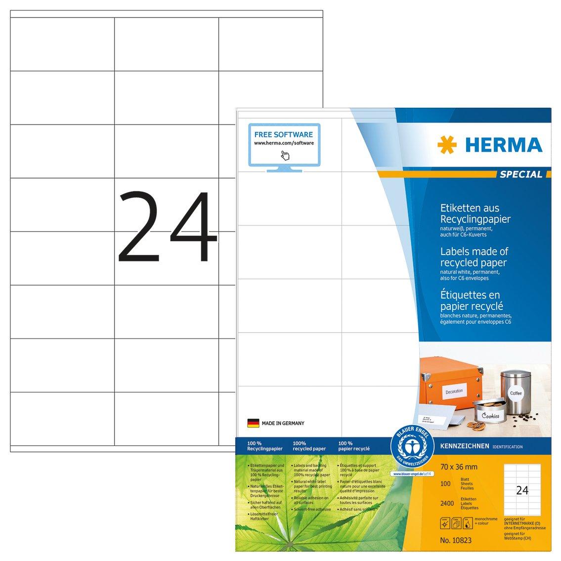 Herma 8638 Etichette Superprint A4 70 x 36 mm