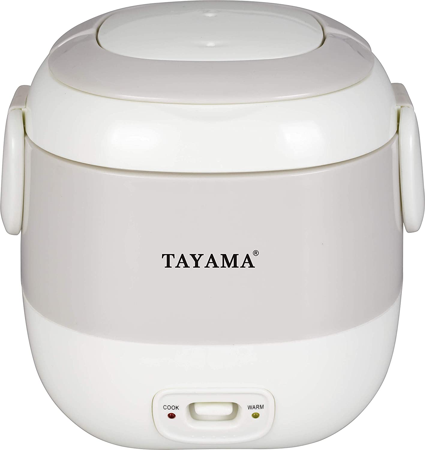 Tayama 1.5 Cup Portable Mini Rice Cooker, White (TMRC-03R)