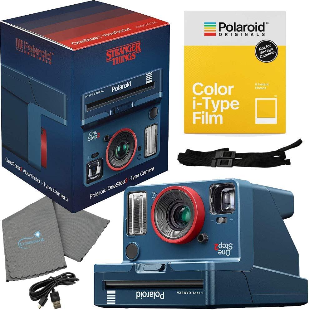 Polaroid Stranger Things OneStep 2 Viewfinder i-Type Camera 9017 Bundle con un Color i-Type Film Pack 4668 (8 Fotos instantáneas) y un paño de Limpieza Lumintrail: Amazon.es: Electrónica