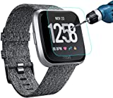 KIMILAR Fitbit Versa Screen Protector, (3 Pack) Transparent HD and Shatter-Proof Shield Tempered Glass Screen Protector for Fitbit Versa Smartwatch