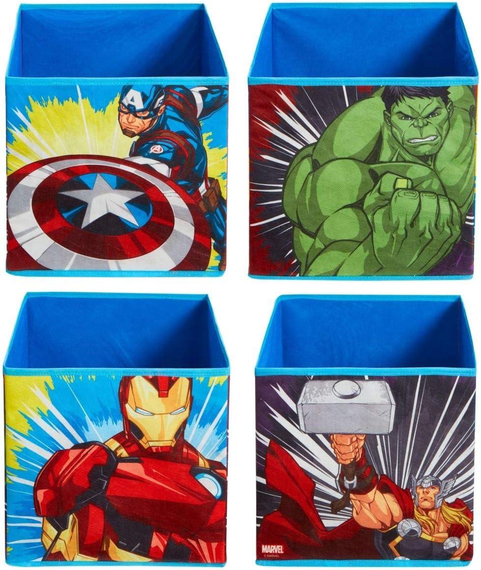 Les Avengers Cubes de Rangement pour Jouets Enfants