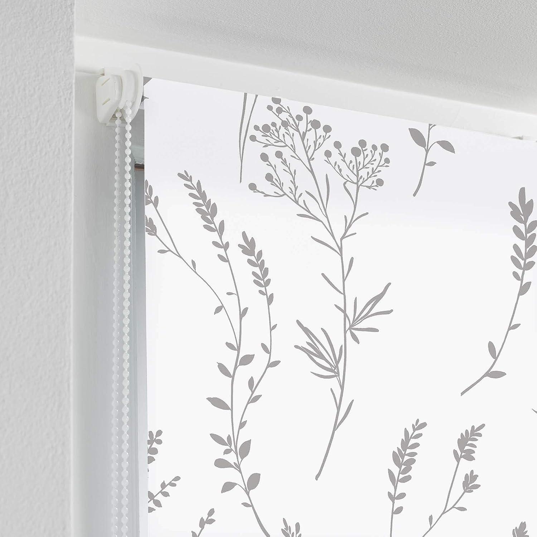Douceur dint/érieur store tamisant imprim/é metallique 45 x 180 cm Forelista anthracite