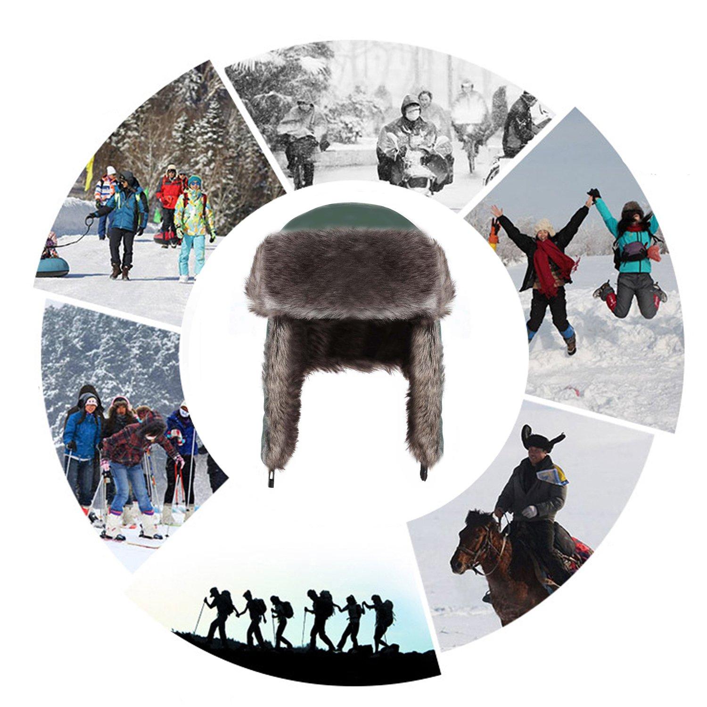 Yesurprise Trapper Warm Russian Trooper Fur Earflap Winter Skiing Hat Cap Women Men Windproof by Yesurprise (Image #7)