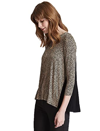 25d191d06b8535 Marks and Spencer Ladies Gorgeous Animal Leopard Print Pleated Back M&S Top  (12): Amazon.co.uk: Clothing