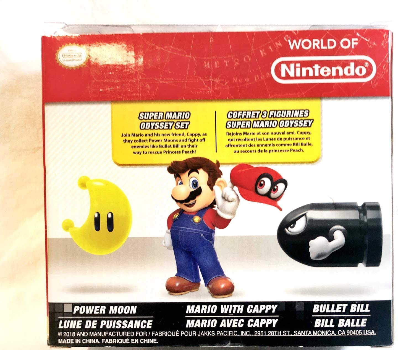 Amazon Com World Of Nintendo Super Mario Odyssey Figure Set With