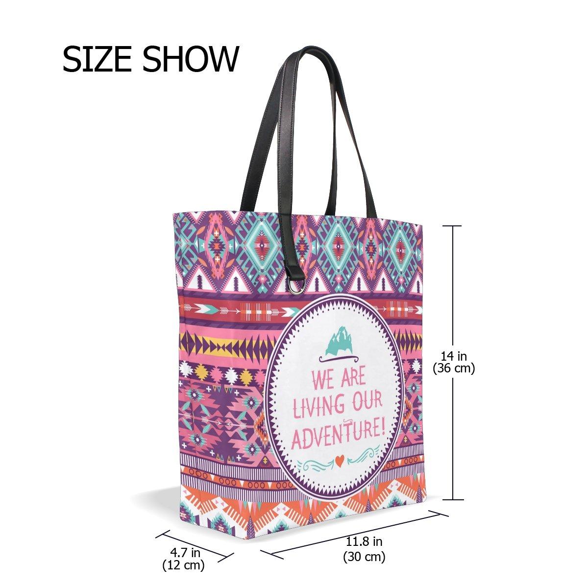 Handbags for Women Africa Art Culture Paisley Tote Shoulder Bag Satchel for Ladies Girls