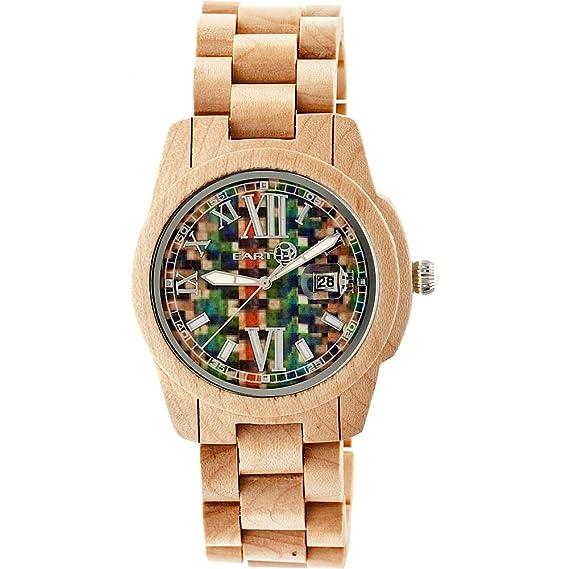 Earth Wood Reloj con movimiento cuarzo japonés Unisex Heartwood Ethew1505 43.0 mm