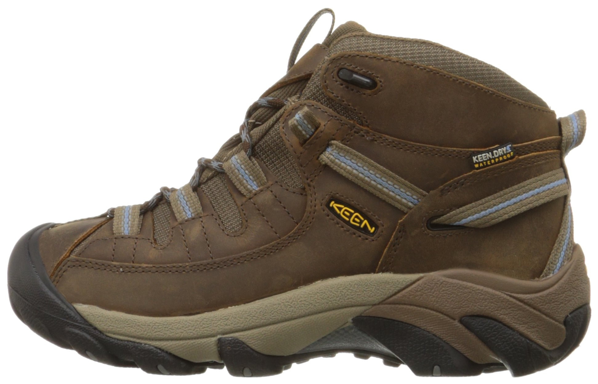 KEEN Women's Targhee II Mid Waterproof Hiking Boot,Slate Black/Flint Stone,8.5 M US by KEEN (Image #5)