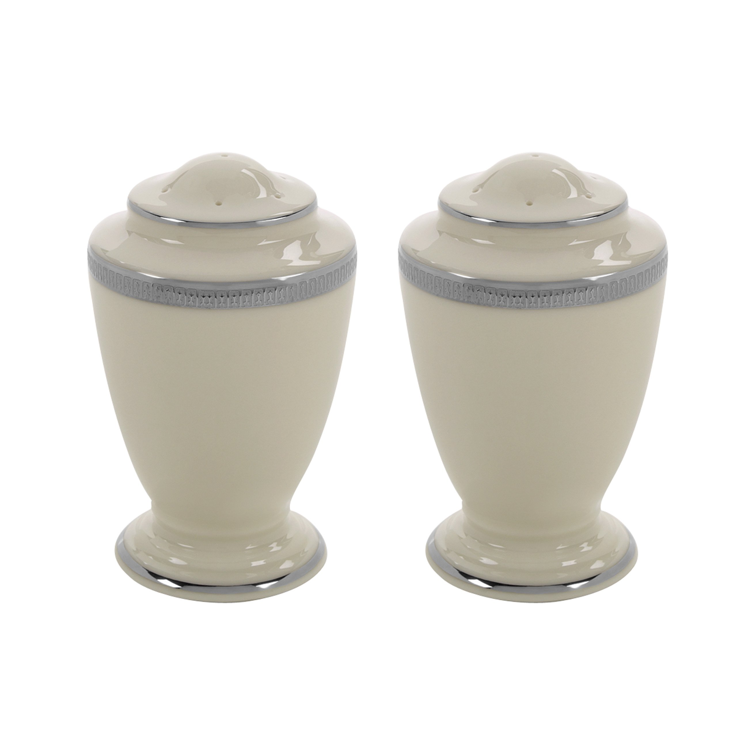Lenox Tuxedo Platinum Salt and Pepper Set, Ivory by Lenox (Image #1)