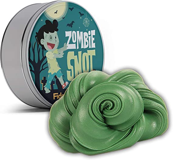 Zombie Snot Fidget Putty Stress Relief Novelty Zombie Gags for Kids Stocking Stuffers for Boys Halloween Weird White Elephant Ideas Fidget Toys Pearl Green Therapy Putty