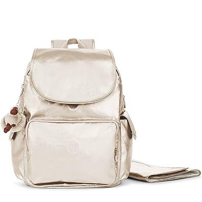 Amazon.com: Kipling Women s Zax metálico mochila de pañales ...
