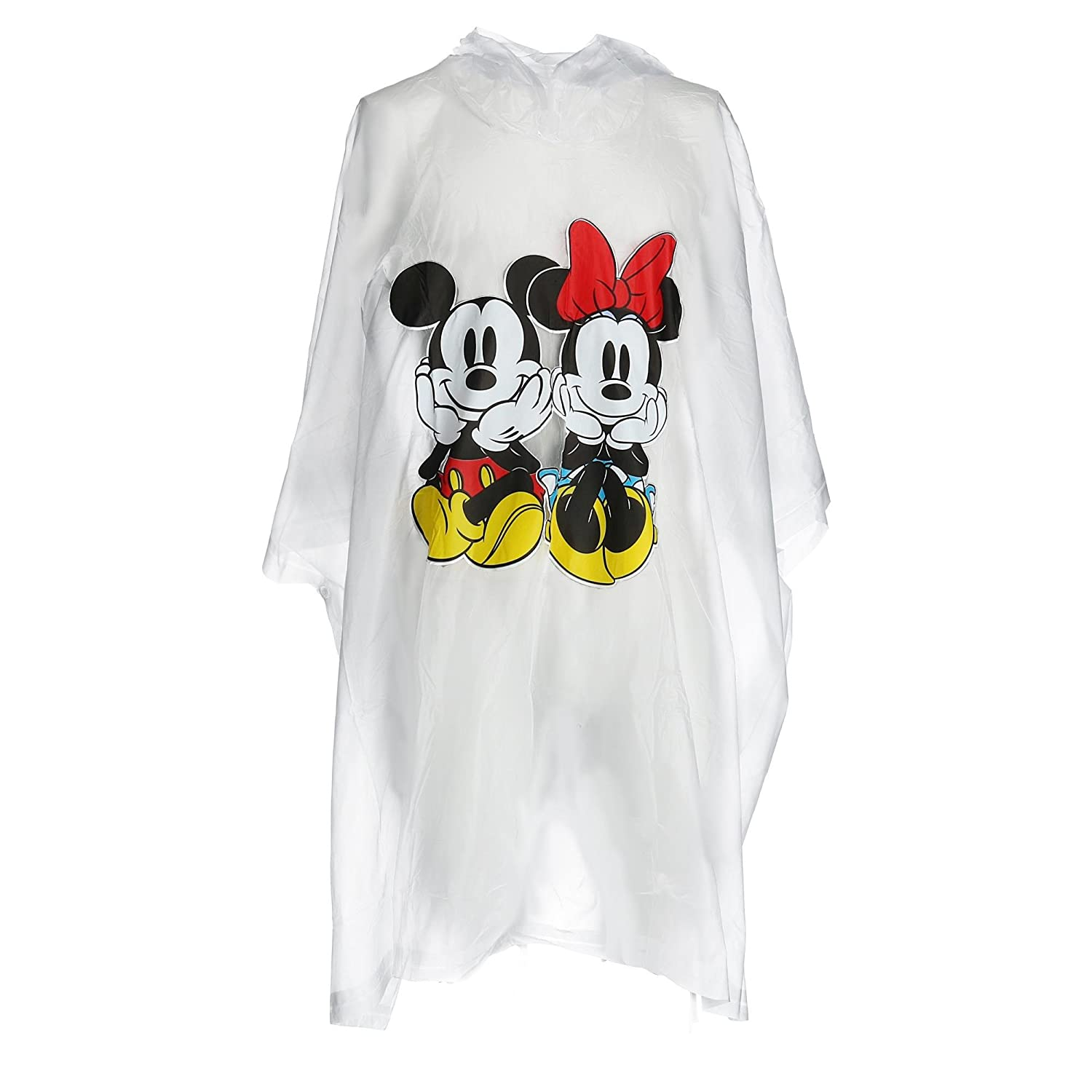 Disney Kid's Mickey and Minnie Mouse Rain Poncho Clear