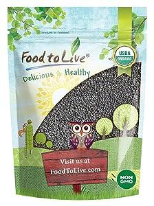 Organic Black Sesame Seeds (Raw, Unhulled, Non-GMO, Kosher, Vegan, Bulk, Kala Til) — 2 Pounds