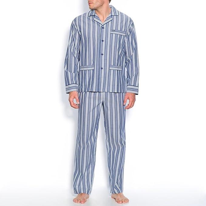 De mujer para Mecene popelín Pure de cama de algodón a rayas pijama de seguridad para