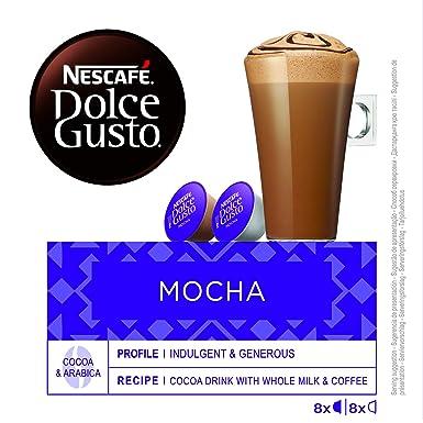 NESCAFÉ Dolce Gusto Café Mocha, Pack de 3 x 16 Cápsulas - Total: 48