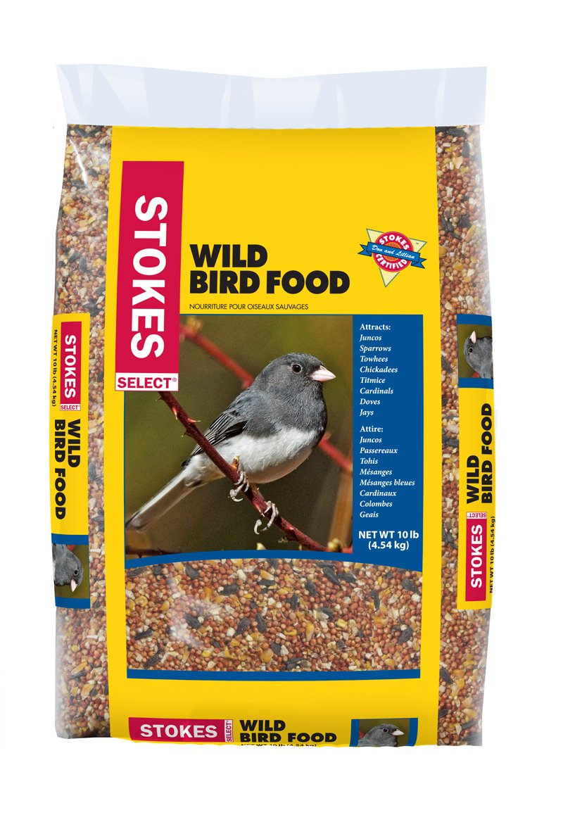Premium Wild Bird Food Select Bag 10 lb Suitable for a Variety of Feeder Types