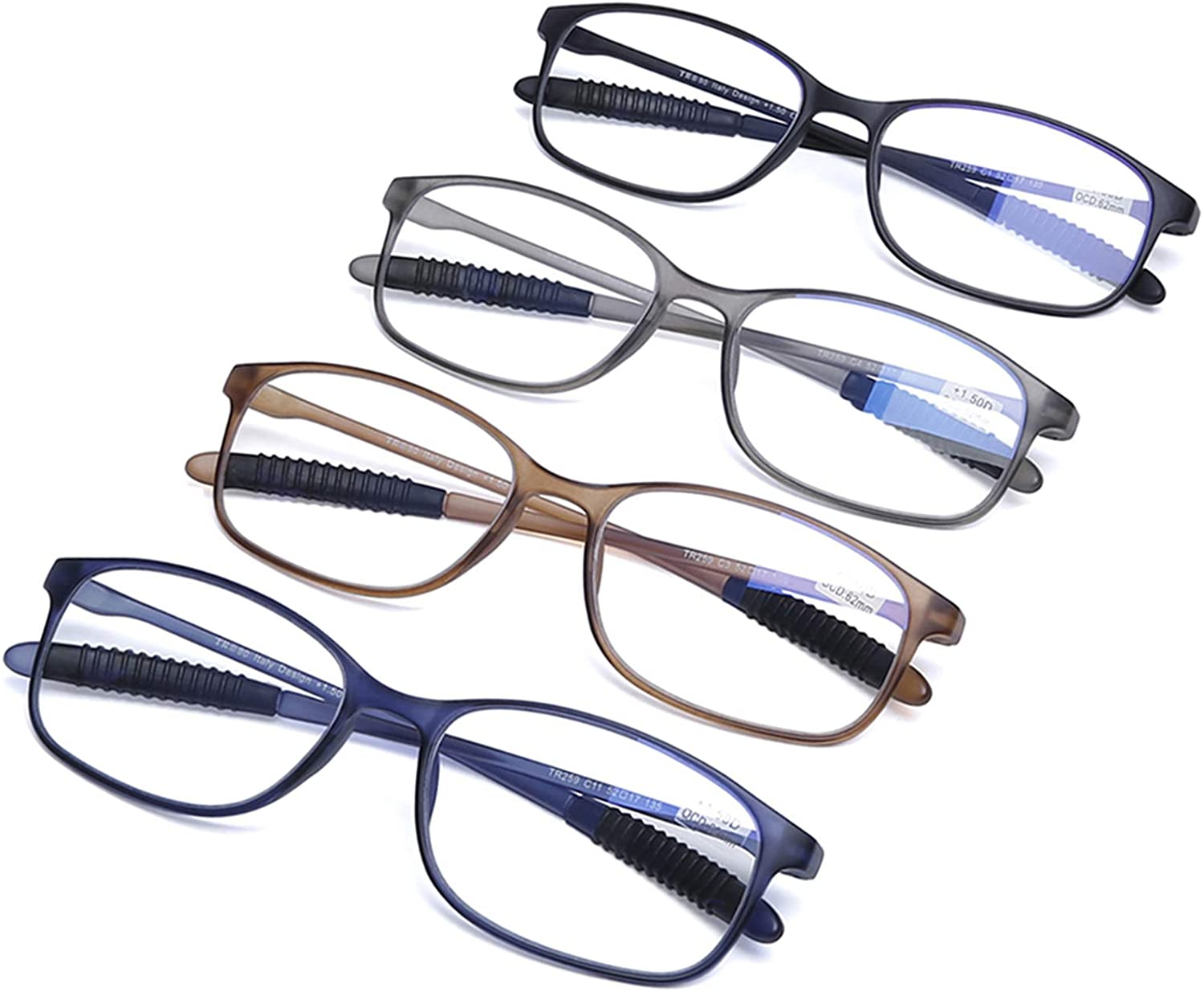Blue Light Blocking Reading Glasses for Women and Men TR90 Computer Readers