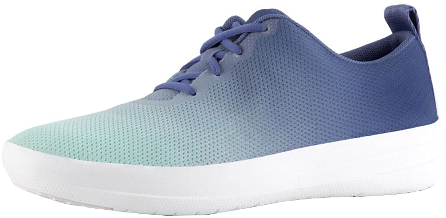 FitFlop Womens Neoflex Slip-On Sneakers B07B21ZLLD 6.5 B(M) US|Indian Blue/Turquoise