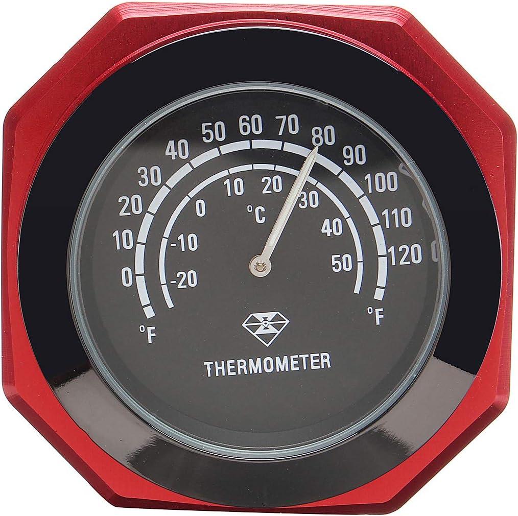 Wooya 7//8 1 Motorrad Zubeh/ör Lenker Mount Uhr Thermometer-Blau