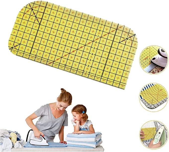 NaiCasy Ironing Ruler Patch Tailor Patch Measuring Tool Diy Sewing Hand Patch