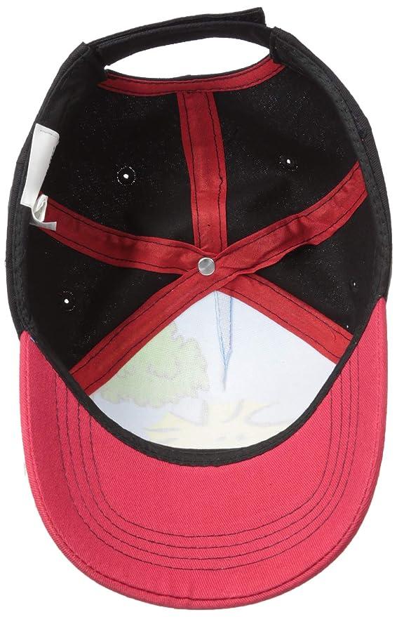 Peanuts Chicos Woodstock gorra de béisbol Pájaro, Negro/Rojo, un ...