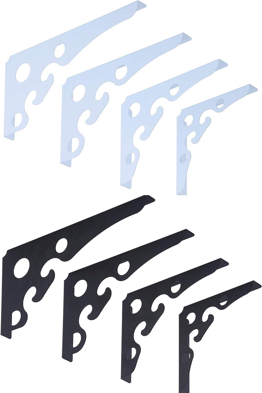 15x15cm, Schwarz Stabile Regalwinkel f/ür Regale Aller Art in schwarz /& Weiss erh/ältlich Euro Tische 2er Set Regaltr/äger Regalhalterung
