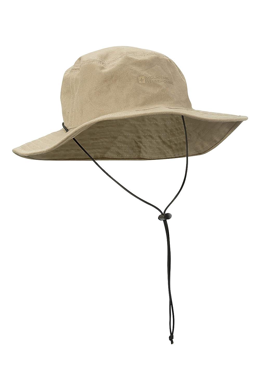 Mountain Warehouse Australischer Hut mit Krempe - Cowboyhut aus 100% LSF30+, Sommerhut, leichter Sonnenhut, atmungsaktiver Schutz - Für Frühlingsreisen, Angeln, Camping Camping Dark Khaki 021476203001