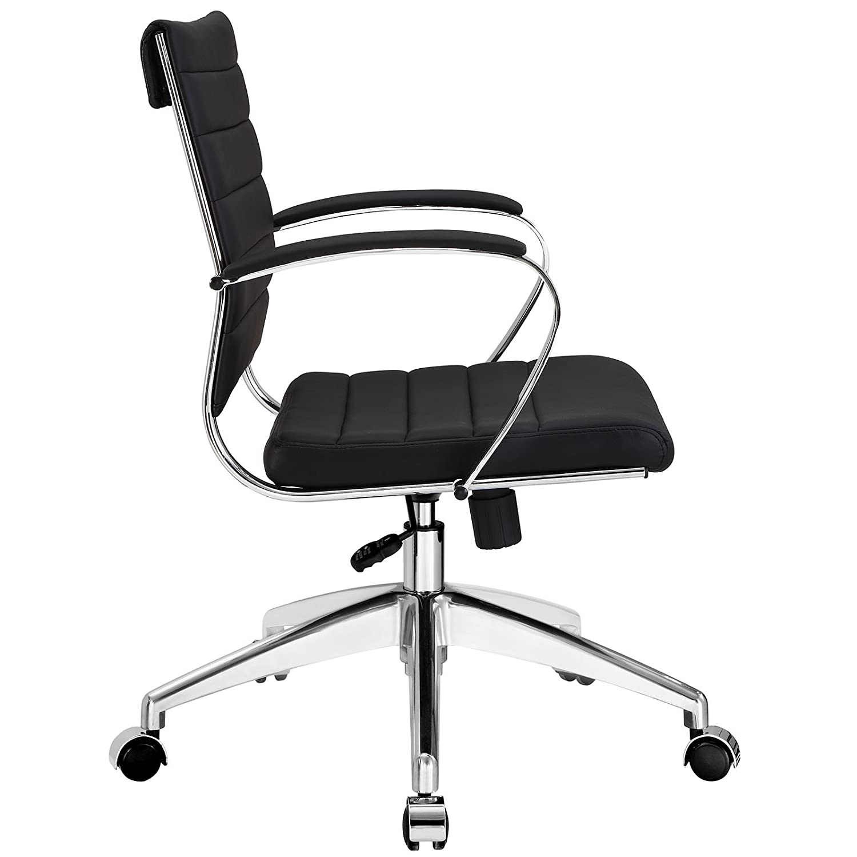 Amazon Modway Jive Ribbed Mid Back Executive fice Chair