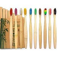 GeekerChip Cepillos de Dientes de Bambú,Paquete de 10 Cepillo de Dientes Bambú di Cerdas Suaves y Respetuosos con el…