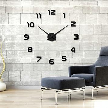 Moderne Wanduhr aidudo 3d diy moderne wanduhr wandtattoo dekoration uhr für