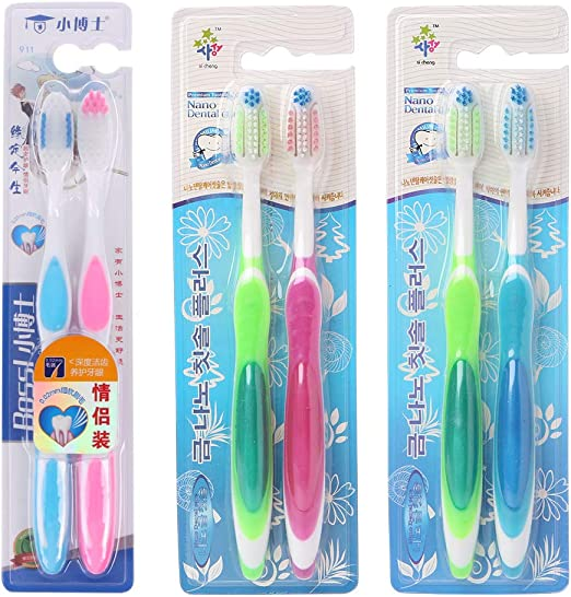 2 cepillos de dientes profesionales Nano para adultos, cuida bien tus dientes: Amazon.es: Hogar