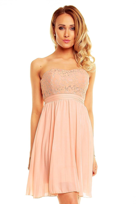 Kurzes Bandeau Kleid mit Spitze, Cocktailkleid, Partykleid ...