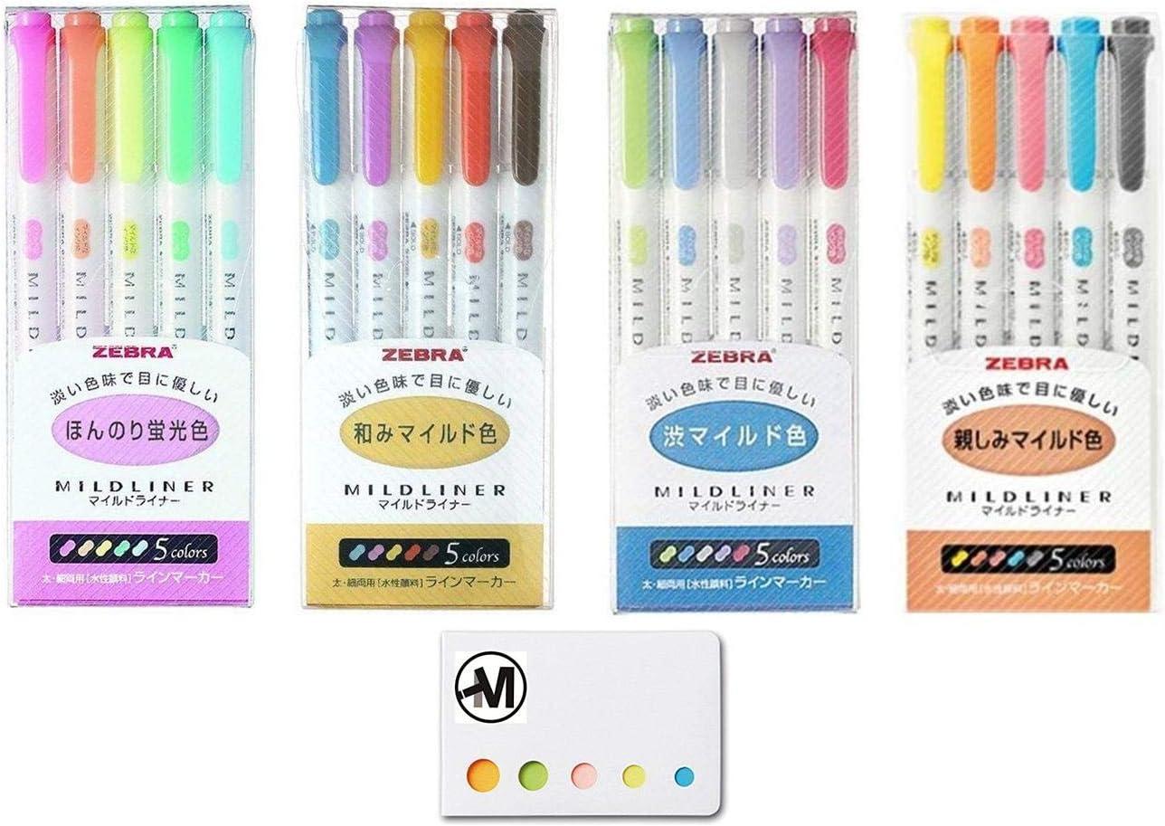 Zebra NC5 5 colors WKT7-5C-NC Highlighter Mildliner Japan Import
