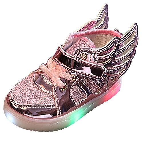 BOZEVON Unisex-Niños LED Zapatos,Transpirable Zapatillas LED Colores Deporte de Zapatillas para Niños Niñas, 5 Colores: Amazon.es: Zapatos y complementos