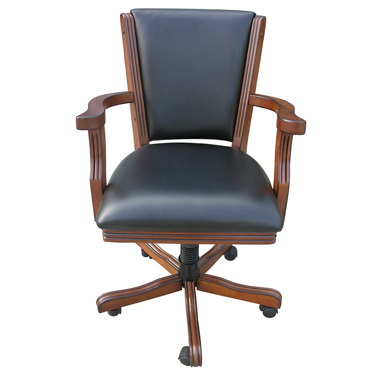 Amazon Hathaway Poker Table Arm Chair Set of 4 Walnut