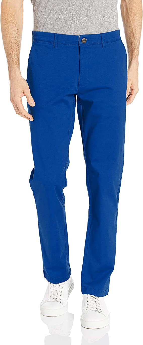 Bright Blue Chinos for Men. Sizes 28 to 42 Waist
